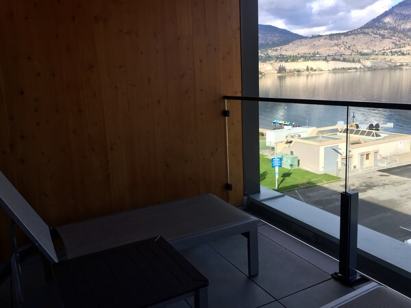 West wing terrace, Penticton Lakeside Resort, Penticton BC Canada