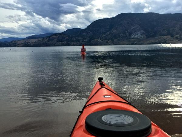 Kayaking on Skaha Lake, Penticton BC Canada