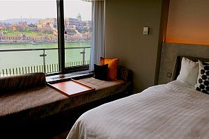 Budapest Marriott Twin River View Room Window