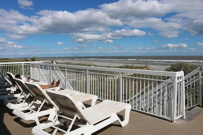 Seaside Inn, Isle of Palms, SC: Beach View