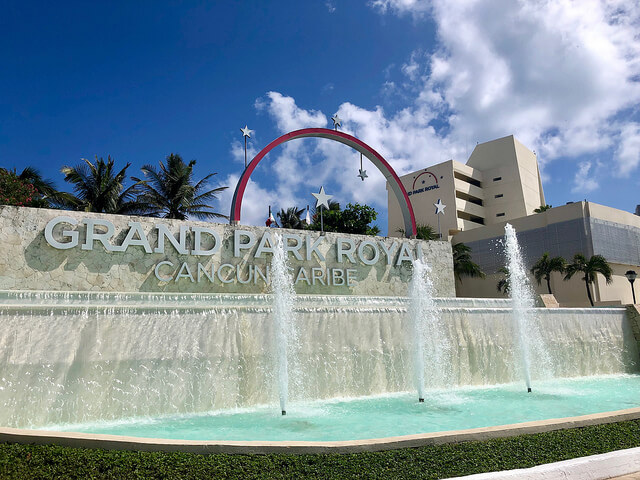 Beach front All-Inclusive Grand Park Royal Luxury Cancun