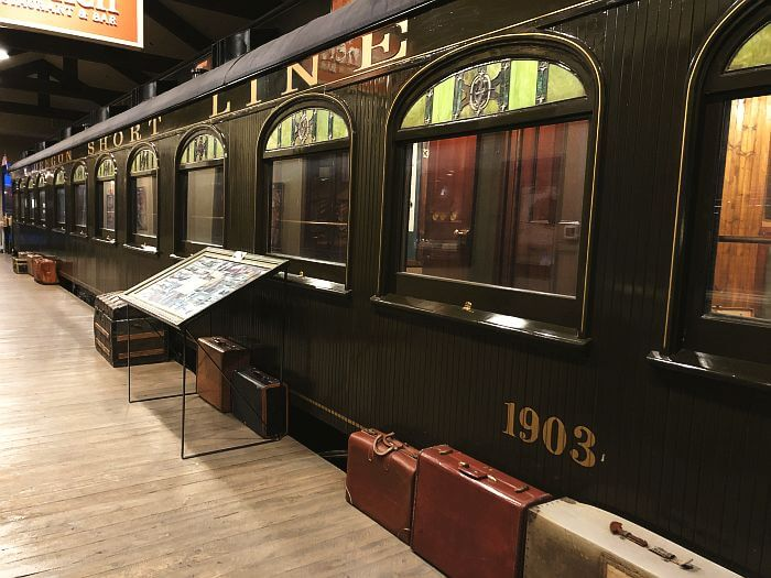 restored train car at Holiday Inn West Yellowstone