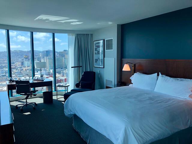 king corner hotel room, intercontinental san francisco hotel renovation, hotel near george moscone convention center