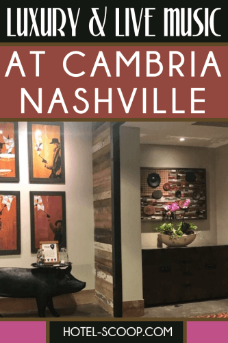 Lobby of Cambria Nashville hotel