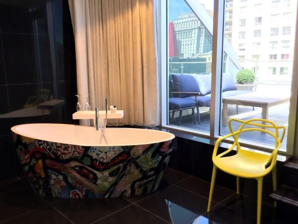Suite bathtub, Le Mount Stephen Hotel, Montreal Quebec Canada