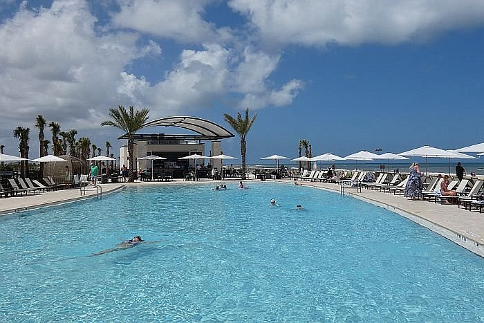 Saint Augustine Beach resort pool by Hilton