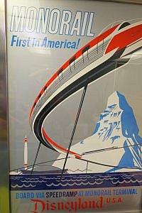 Disneyland Monorail Poster