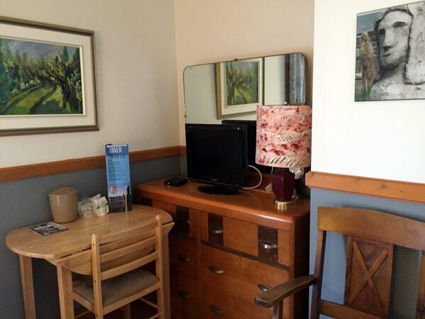 Guest room, Centre D'Art Marcel Gagnon, Sainte-Flavie, Gaspe, Quebec Canada