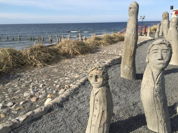 Sculptures, Centre D'Art Marcel Gagnon, Sainte-Flavie, Gaspe, Quebec Canada