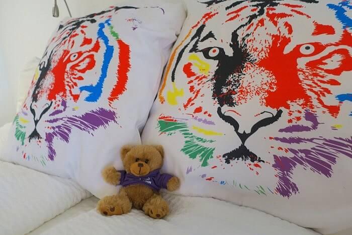 bear pillow Silverbow Inn