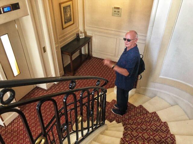 circular staircase at hotel westminster paris