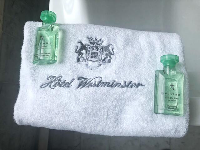bulgari amenities in bathroom hotel westminster