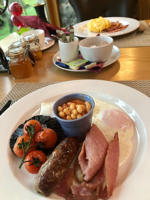errichel house breakfast, scottish breakfast, bacon and eggs