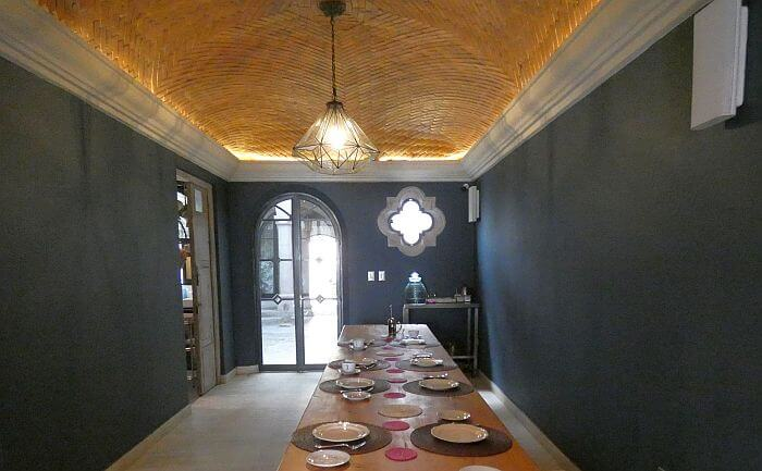 Dining area for breakfast and San Miguel theme dinners