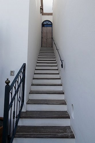 Casa Delphine boutique hotel in San Miguel de Allende, Mexico: stairs to Rooftop Suite number 5
