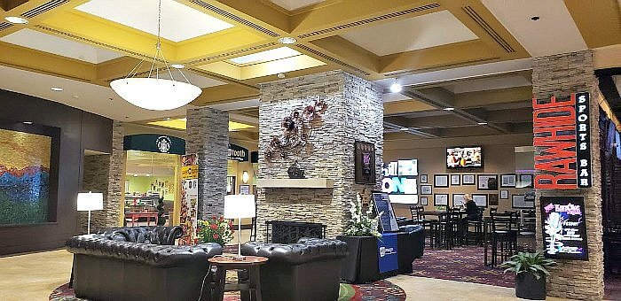 Dining options at the Hotel elegante raw hide bar chill zone colorado springs