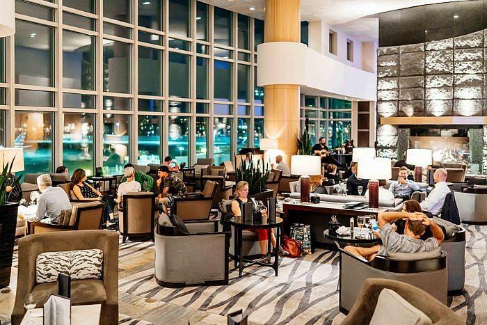 Fairmont Vancouver Airport lobby lounge