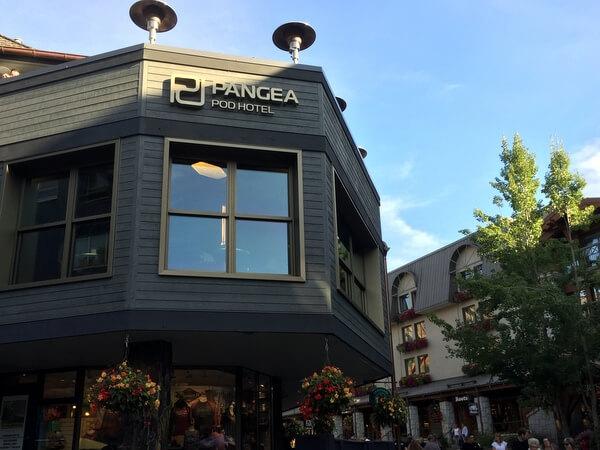 Exterior, Pangea Pod Hotel, Whistler BC Canada