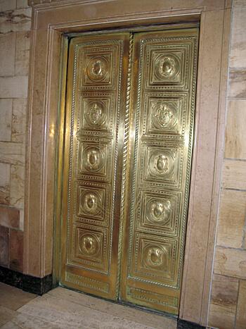 Elevator doors, Chateau Laurier, Ottawa, Canada