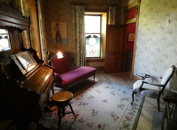 historic furniture at Elling House Inn Montana