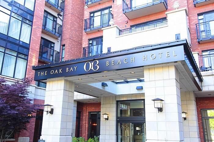 Oak Bay Beach Hotel Entrance