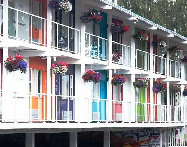 Hotel Zed balcony doors