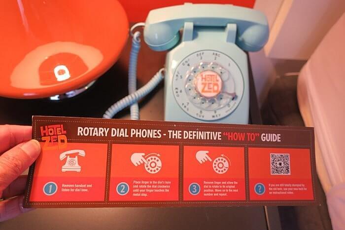 Hotel Zed rotary phone