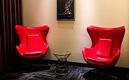 Red Chairs at Davenport Grand in Spokane, Washington