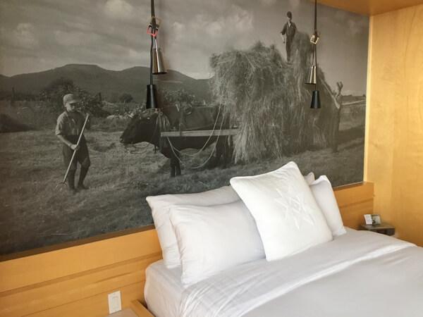 Guest room, Le Germain Charlevoix Hotel, Baie Saint-Paul, Quebec Canada