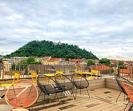 rooftop hotel in graz, Lend Hotel close to old town Graz.