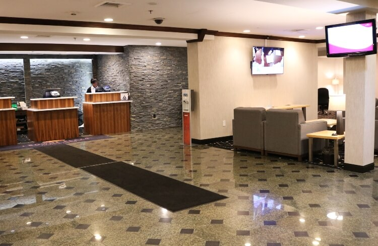 Lobby and Reception at Crowne Plaza