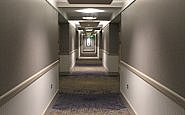 Hallway, Chautauqua Harbor Hotel, Celoron, New York (Photo by Susan McKee)
