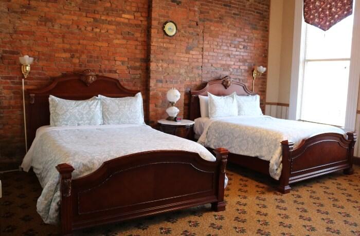 Hotel Millersburg guestroom of antiques