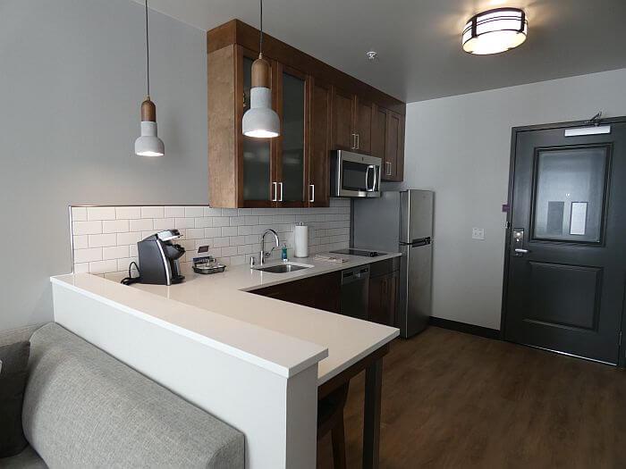 Residence Inn Missoula Downtown room kitchen
