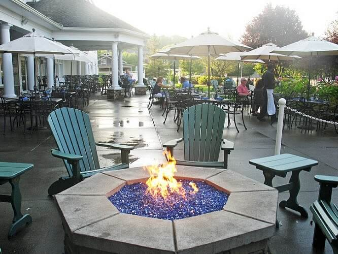 Fire pit,Watkins Glen Harbor Hotel, Watkins Glen, New York (Photo by Susan McKee)