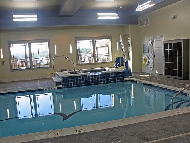 Indoor pool, Chautauqua Harbor Hotel, Celoron, New York (Photo by Susan McKee)