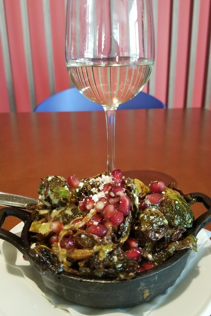 Crispy Brussels Sprouts at Hotel Paseo in Palm Desert, California.