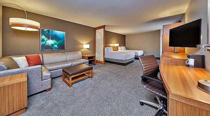 Spacious accommodations are family-friendly at the Hyatt Place Eugene Oakway Place