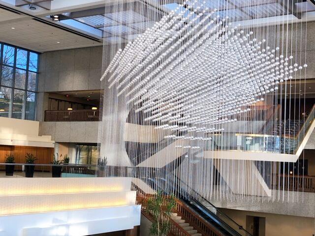 Kansas City Sheraton lobby lighting