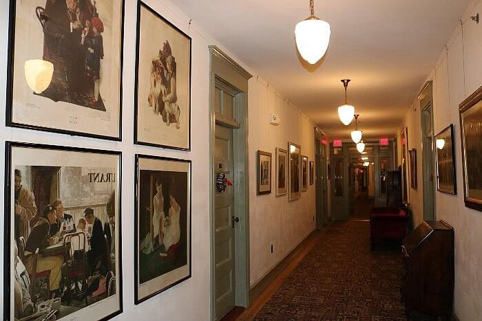 Norman Rockwell Paintings on wall