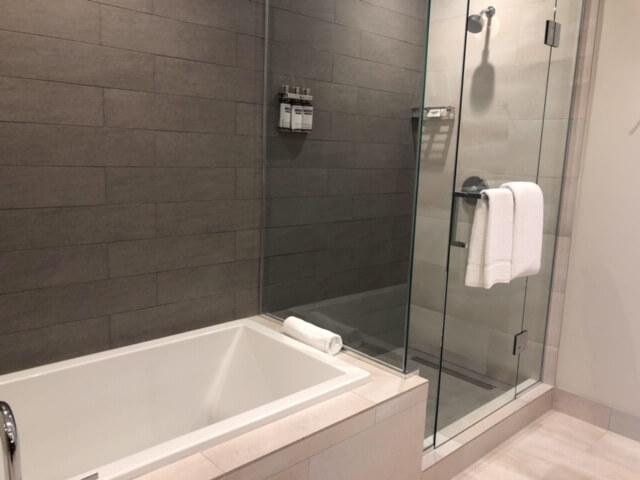 Spacious bathroom at Hyatt Regency Seattle