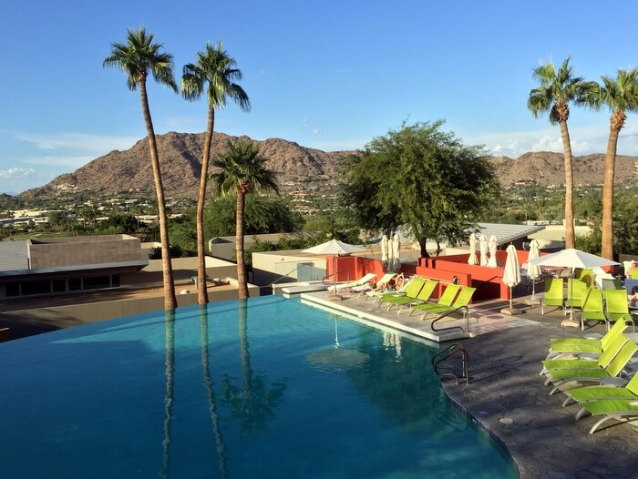 Pool and view, Sanctuary Camelback Mountain Resort, Scottsdale, Arizona