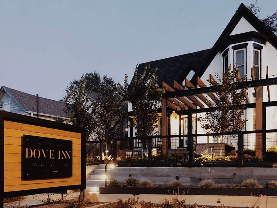 A west Denver favorite, take time to visit The Dove Inn, a boutique hotel in Golden, Colorado. Photo: Dove Inn