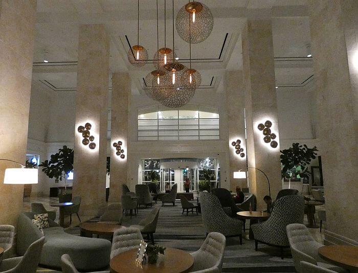 Tampa Marriott lobby