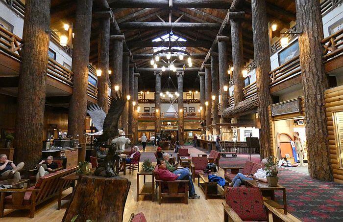 Glacier Park Lodge Montana lobby