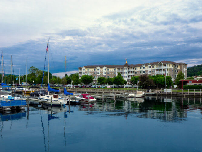 Watkins Glen Harbor Hotel overlooks the sparkling waters of Seneca Lake in the heart of Finger Lakes Wine Country.