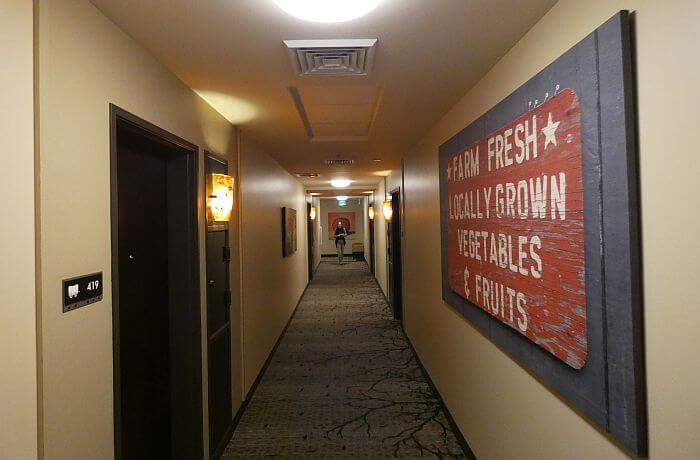 Boise art hotel hallway
