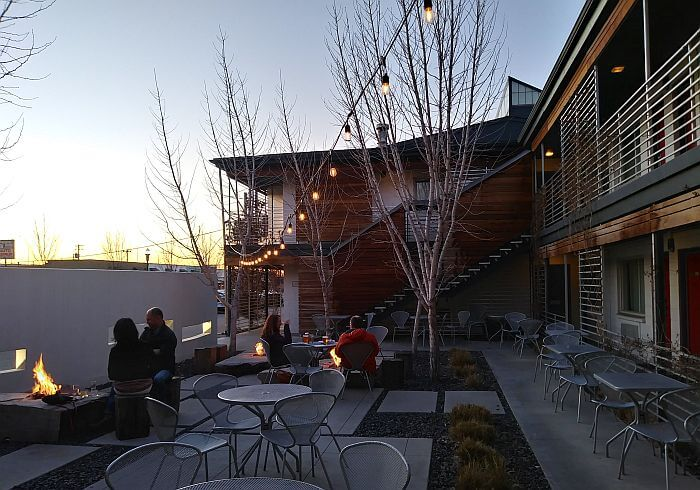 Boise design hotel courtyard