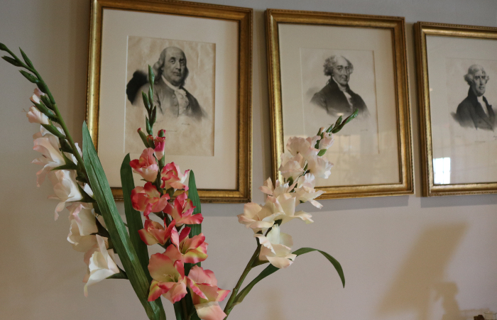Flowers and founding fathers at Avon Old Farms Hotel