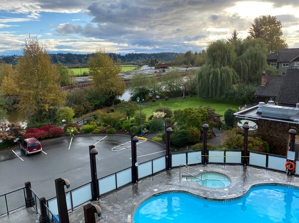 Pool, Old House Hotel, Courtenay BC Canada